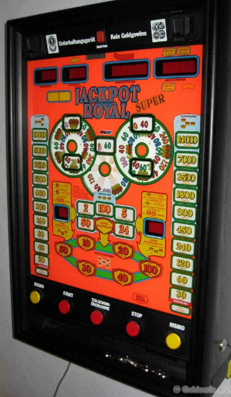 Jackpot Royal Super, Rototron, Bally Wulff, 1990