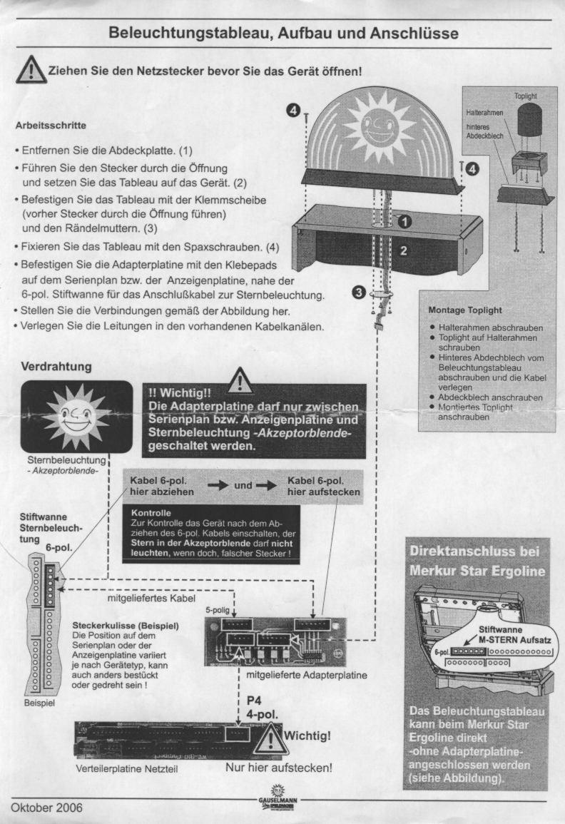 LED Tableau anschließen (adp)
