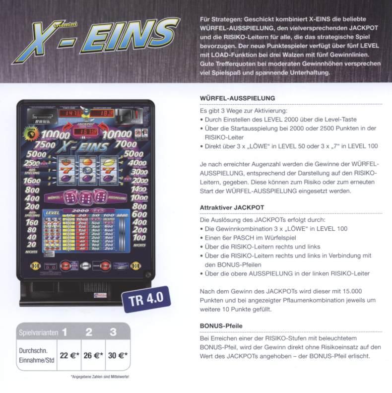 X-Eins-Werbung